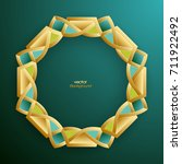 3d round abstract frame  round... | Shutterstock .eps vector #711922492