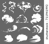 cartoon smoke set | Shutterstock .eps vector #711941992