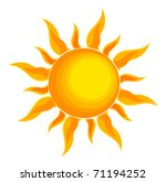 sun over white   vector... | Shutterstock .eps vector #71194252