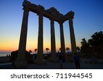 temple of apollo with a... | Shutterstock . vector #711944545