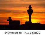 plane taking off from schiphol... | Shutterstock . vector #711952822