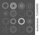 vector mathematical spirograph...   Shutterstock .eps vector #711965905