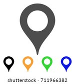 map marker icon. vector... | Shutterstock .eps vector #711966382