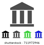 bank building icon. vector... | Shutterstock .eps vector #711972946