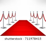 red event carpet and silvery... | Shutterstock . vector #711978415