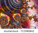 abstract starry prickly ... | Shutterstock . vector #711980842