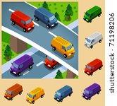 van cargo transport. vector... | Shutterstock .eps vector #71198206