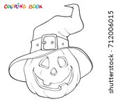 Halloween Coloring Book Or Pag...