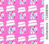 pattern jar candy doodle vector    Shutterstock .eps vector #712008586