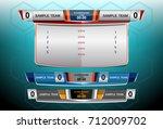 scoreboard broadcast graphic... | Shutterstock .eps vector #712009702