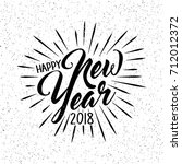 happy new year 2018 card design | Shutterstock .eps vector #712012372
