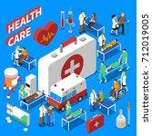 doctor patient communication...   Shutterstock . vector #712019005
