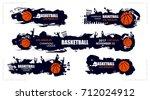 set designs for basketball ... | Shutterstock .eps vector #712024912