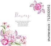 watercolor hand painted flowers.... | Shutterstock . vector #712032052