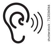 human ear icon illustration | Shutterstock .eps vector #712036066