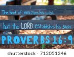scripture painted on a wood