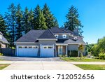 luxury house in vancouver ... | Shutterstock . vector #712052656