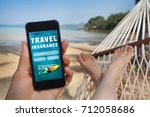 travel insurance concept | Shutterstock . vector #712058686