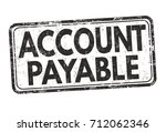 account payable sign or stamp... | Shutterstock .eps vector #712062346