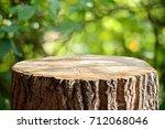empty tree trunk for display... | Shutterstock . vector #712068046