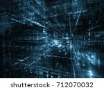 virtual space series. graphic... | Shutterstock . vector #712070032
