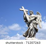 Holy Statue Of Carved Winged...