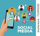 social media technology | Shutterstock .eps vector #712092202