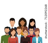 people and friends cartoon | Shutterstock .eps vector #712092268