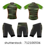 sports t shirt camouflage style ... | Shutterstock .eps vector #712100536