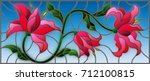 illustration in stained glass... | Shutterstock .eps vector #712100815
