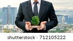 ecology concept human hands... | Shutterstock . vector #712105222