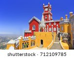 pena palace in sintra  portugal | Shutterstock . vector #712109785