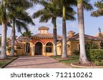 typical southwest florida... | Shutterstock . vector #712110262