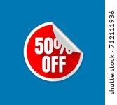 sticker sale 50  off discount... | Shutterstock .eps vector #712111936