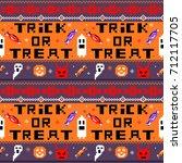 halloween cute pattern for web... | Shutterstock .eps vector #712117705
