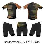 sports colors t shirt vector... | Shutterstock .eps vector #712118536