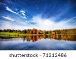 Bright Autumn Landscape In The...