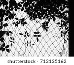 silhouette ivy and leaf with... | Shutterstock . vector #712135162