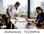 partnership corporate work... | Shutterstock . vector #712146916