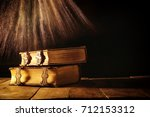 image of antique books  with... | Shutterstock . vector #712153312