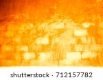wall  yellow background plaster ... | Shutterstock . vector #712157782
