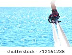 flyboarding and seariding | Shutterstock . vector #712161238