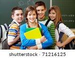 portrait of happy teens looking ... | Shutterstock . vector #71216125