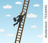 businessman climbing ladder ... | Shutterstock .eps vector #71216443
