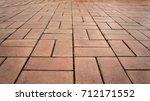 brick floor  | Shutterstock . vector #712171552