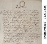 Old Letter With Vintage...