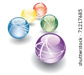 Five Vector Abstract Balls In...