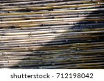 bamboo wood texture background | Shutterstock . vector #712198042