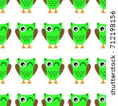 seamless pattern with owl | Shutterstock .eps vector #712198156