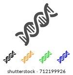 dna spiral icon. vector... | Shutterstock .eps vector #712199926
